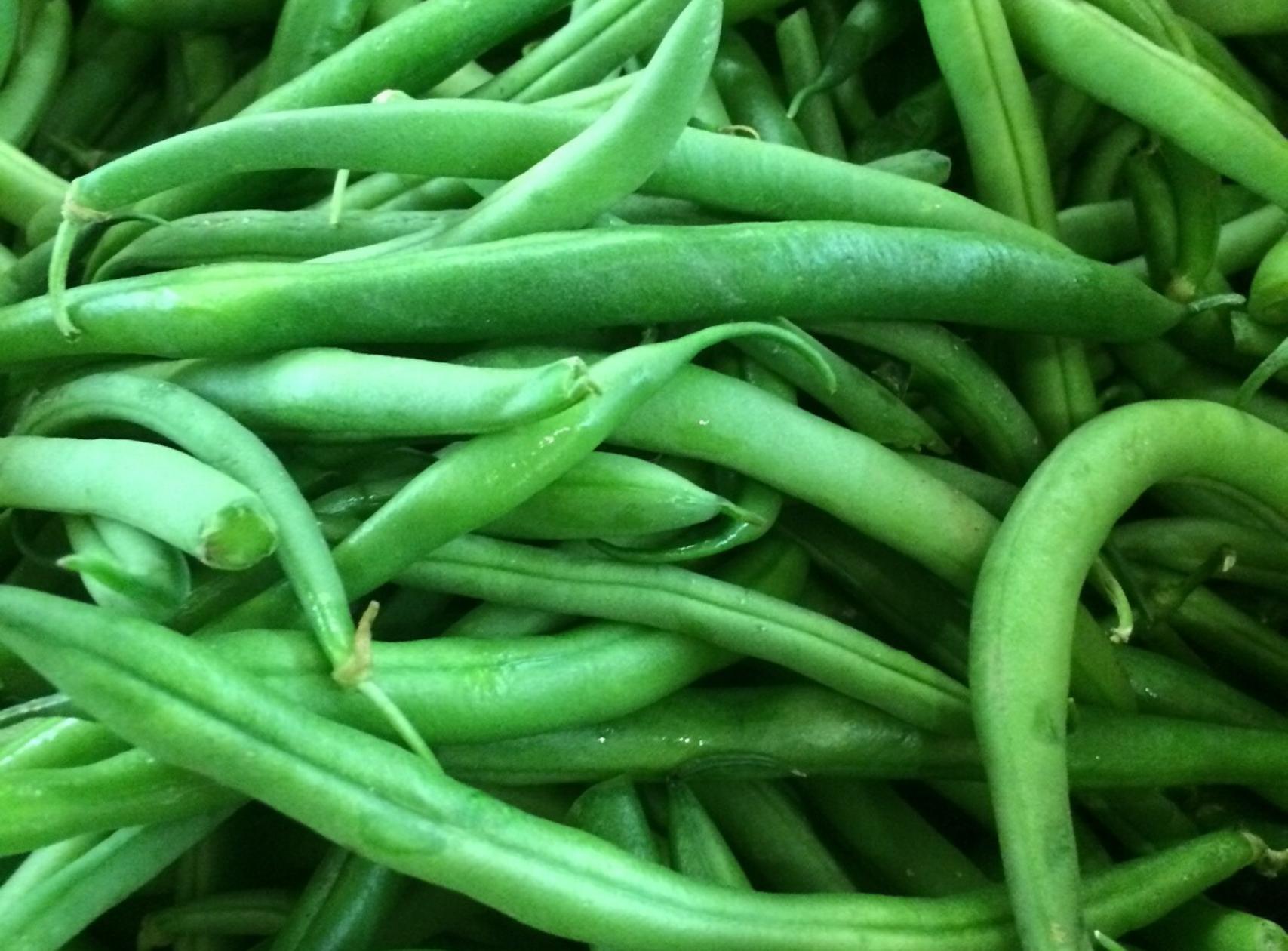Homegrown green beans