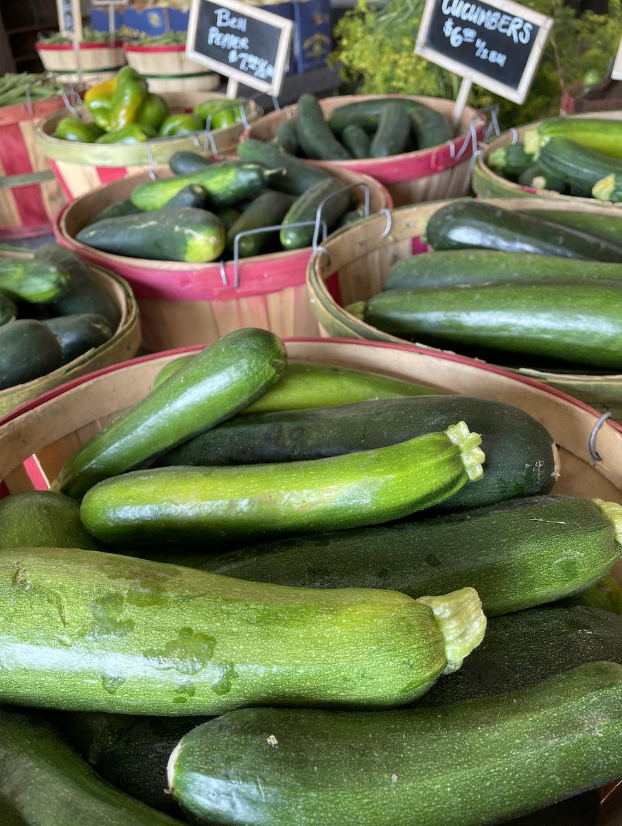 Homegrown zucchini & yellow squash